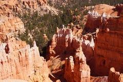 Elaborately eroded pinnacles and hoodoos Royalty Free Stock Image