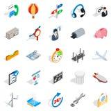 Elaboration icons set, isometric style Royalty Free Stock Image