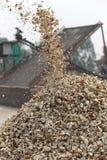 Elaborazione del prodotto agricolo della manioca Fotografia Stock Libera da Diritti