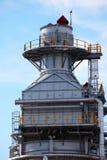 Elaborazione della colonna per la piattaforma offshore Immagini Stock