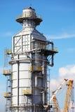 Elaborazione della colonna per la piattaforma offshore Fotografie Stock