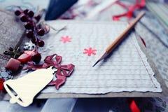 Elaborazione delle cartoline di Natale Fotografia Stock Libera da Diritti