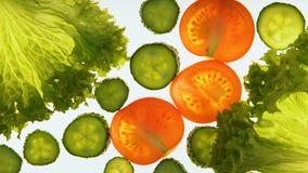 Elaborazione delle verdure con radiazione ultravioletta, conservazione insolita del prodotto video d archivio