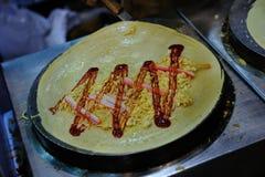 Elaborazione di crêpe Fotografie Stock