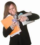 Elaborazione multitask della donna Fotografia Stock Libera da Diritti
