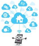 Elaborazione multitask di computazione della nuvola Immagini Stock Libere da Diritti
