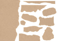 Elabori i pezzi strappati struttura di carta per l'opera d'arte nell'alta risoluzione Fotografie Stock Libere da Diritti