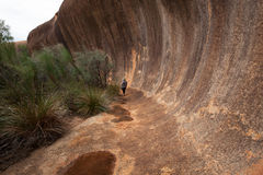 Elachbutting Rock, Western Australia. Little known, although smaller, but just as spectactular as the famous Wave Rock at Hyden Stock Photos