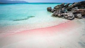 Elafonisi盐水湖,克利特海岛,希腊 库存照片