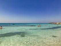 elafonisi της Κρήτης ακτών Υδατόχρωμα Στοκ φωτογραφία με δικαίωμα ελεύθερης χρήσης