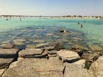 elafonisi της Κρήτης ακτών Υδατόχρωμα Στοκ Φωτογραφίες