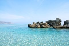 elafonisi Крита пляжа Стоковое Фото