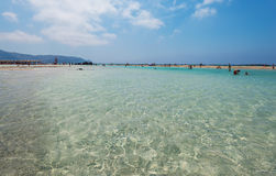 Elafonisi beach Chania royalty free stock photography