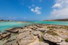 Elafonisi beach Crete stock photography