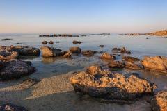 Elafonisi  beach. Crete, Greece Royalty Free Stock Photo