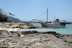 Elafonisi beach of Crete Royalty Free Stock Images