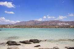 Turquoise water at Elafonisi beach, Crete Island, Greece Stock Photography