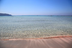 Elafonisi beach of Crete island Stock Images