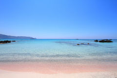 Elafonisi beach of Crete island Royalty Free Stock Image