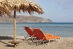 Elafonisi beach in Crete. Turquoise water. Greece Royalty Free Stock Images