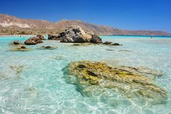 Elafonisi beach, Crete Stock Images