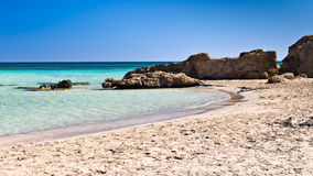 Elafonisi beach on the island of Crete Stock Images