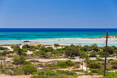 Elafonisi beach, island of Crete Stock Image