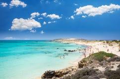 Elafonissi Lagoon, Crete Island, Greece stock photos