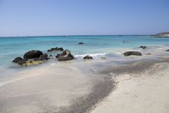 Elafonisi beach, Crete Island, Greece Royalty Free Stock Photography