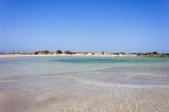 Elafonisi beach relaxation Royalty Free Stock Image
