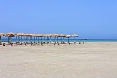 Elafonisi beach relaxation stock image