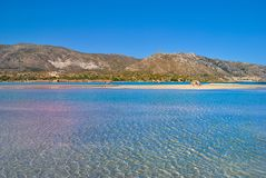 Elafonisi plaża w Crete Grecja obraz royalty free