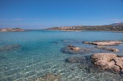 Elafonisi strand Arkivfoton