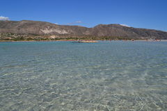 Elafonisi strand, Kreta, Grekland Arkivfoton