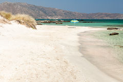 Elafonisi Strand (Kreta, Griechenland) Lizenzfreie Stockfotos