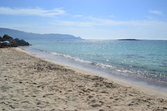 Elafonisi, wyspa rogacz, jest jak raj dalej Zdjęcie Royalty Free
