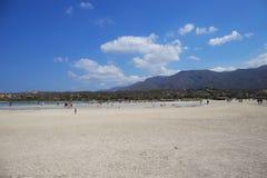 Elafonisilagune, het Eiland van Kreta, Griekenland Stock Foto's
