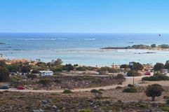 Elafonisis beach at Crete , Greece Stock Photo