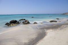 Elafonisistrand, het Eiland van Kreta, Griekenland Royalty-vrije Stock Fotografie
