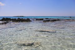 Elafonisistrand, het Eiland van Kreta, Griekenland Royalty-vrije Stock Foto