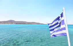 Elafonisos island as seen from the ship Lakonia Peloponnese Greece Stock Photos