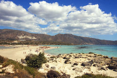 Elafonissi beach royalty free stock image