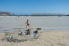 Elafonissi beach stock photo