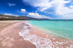 Elafonissi beach with pink sand on Crete Stock Image