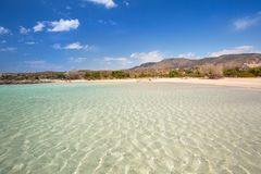Free Elafonissi Beach With Pink Sand On Crete, Greece Royalty Free Stock Photography - 152684527