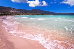 Free Elafonissi Beach With Pink Sand On Crete, Greece Royalty Free Stock Photos - 173704948