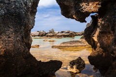 Elafonissi nature reserve on Crete Stock Images