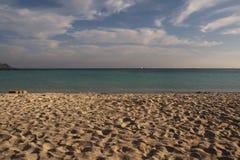 Elafonissi strand Arkivfoto