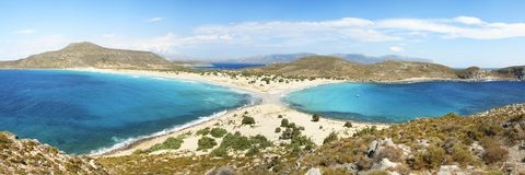 Elafonissos beach Royalty Free Stock Images