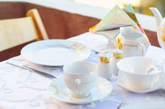 Elagant Tea Set Royalty Free Stock Photography